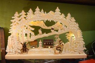 Lighted Christmas display at the Heidelberg market
