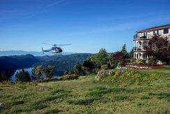 LuxeGetaways - Luxury Travel - Luxury Travel Magazine - Luxe Getaways - Luxury Lifestyle - Canada Luxury Resort - Villa Eyrie - Helicopter Landing