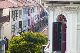 Singapore --- Colonial shop houses, China Town, Singapore --- Image by � Jon Arnold/JAI/Corbis