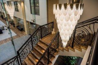 LuxeGetaways - Luxury Travel - Luxury Travel Magazine - Luxe Getaways - Luxury Lifestyle - The Ivey's Hotel Charlotte - North Carolina - Iveys Hotel - Hallway - Chandelier