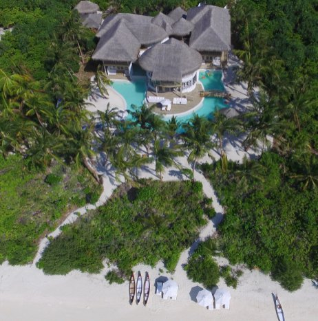 LuxeGetaways - Luxury Travel - Luxury Travel Magazine - Luxe Getaways - Luxury Lifestyle - Luxury Villa Rentals - Affluent Travel - Soneva Jani Water Villas - Medhufaru Island - Republic of Maldives - aerial view of villa compound