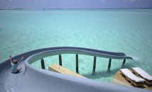 LuxeGetaways - Luxury Travel - Luxury Travel Magazine - Luxe Getaways - Luxury Lifestyle - Luxury Villa Rentals - Affluent Travel - Soneva Jani Water Villas - Medhufaru Island - Republic of Maldives - slide from villa into ocean