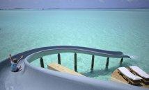 LuxeGetaways - Luxury Travel - Luxury Travel Magazine - Luxe Getaways - Luxury Lifestyle - Luxury Villa Rentals - Affluent Travel - Soneva Jani Water Villas - Medhufaru Island - Republic of Maldives - slide from villa into ocean