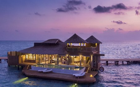 LuxeGetaways - Luxury Travel - Luxury Travel Magazine - Luxe Getaways - Luxury Lifestyle - Luxury Villa Rentals - Affluent Travel - Soneva Jani Water Villas - Medhufaru Island - Republic of Maldives - villa at sunset - grand villa