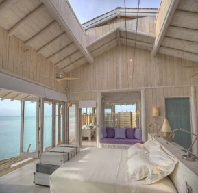 LuxeGetaways - Luxury Travel - Luxury Travel Magazine - Luxe Getaways - Luxury Lifestyle - Luxury Villa Rentals - Affluent Travel - Soneva Jani Water Villas - Medhufaru Island - Republic of Maldives - opening roof in bedroom