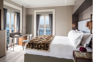 LuxeGetaways - Luxury Travel - Luxury Travel Magazine - Luxe Getaways - Luxury Lifestyle - LuxeGetaways_Ritz-Carlton Geneva_Marriott-International_Hotel-De-La-Paix - Luxury Hotel - Hotel Opening - Europe Luxury Hotel - Swiss Hotel - Room