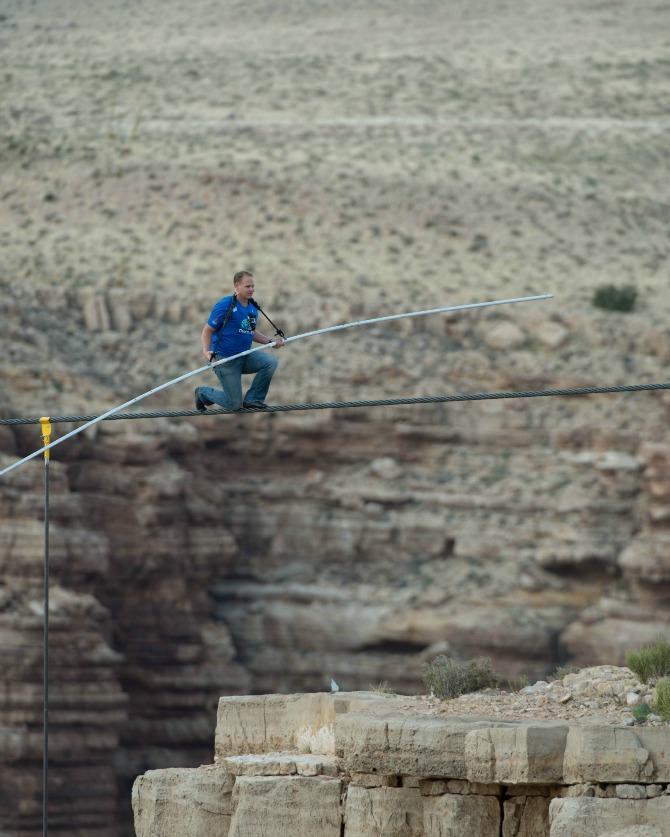 The infamous Nik Wallenda Known as the master of high wire