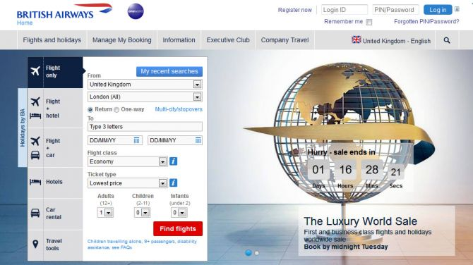 British Airways Top Ten Airlines for Business Travel