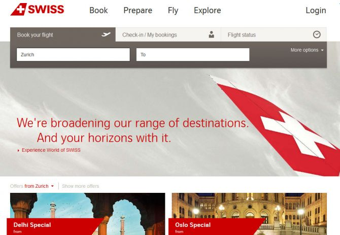 Swiss International Air Lines Top Ten Airlines for Business Travel