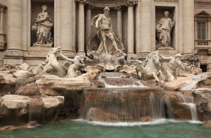 Top Five Sights in Rome Trevi Fountain