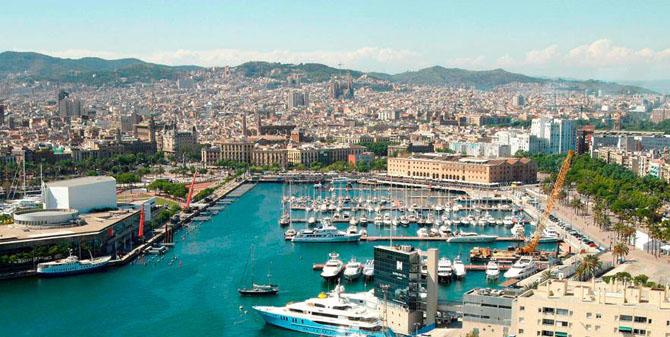 Top Ten Superyacht Marinas in the Med Port Vell Barcelona