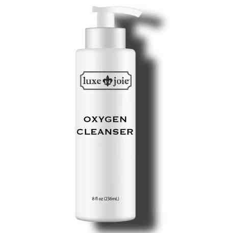 oxygen cleanser on white background