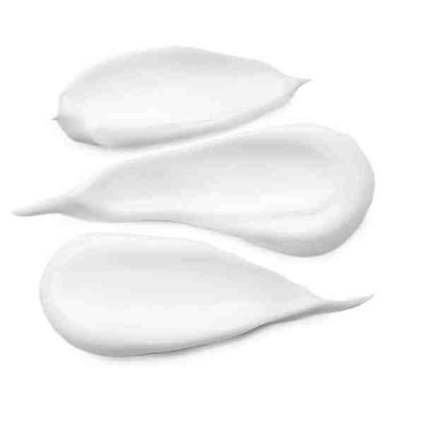 white cream swipe three smears