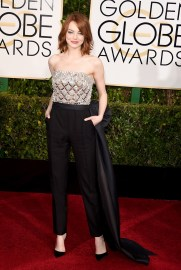Emma Stone in Lanvin and Christian Louboutin shoes