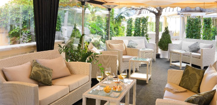 Crystal Terrace - Courtesy of Hotel Hermitage