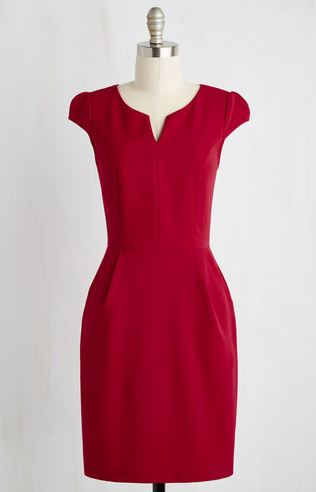 Emily Ratajkowski - Red pencil dress look for a steal - The Luxe Lookbook