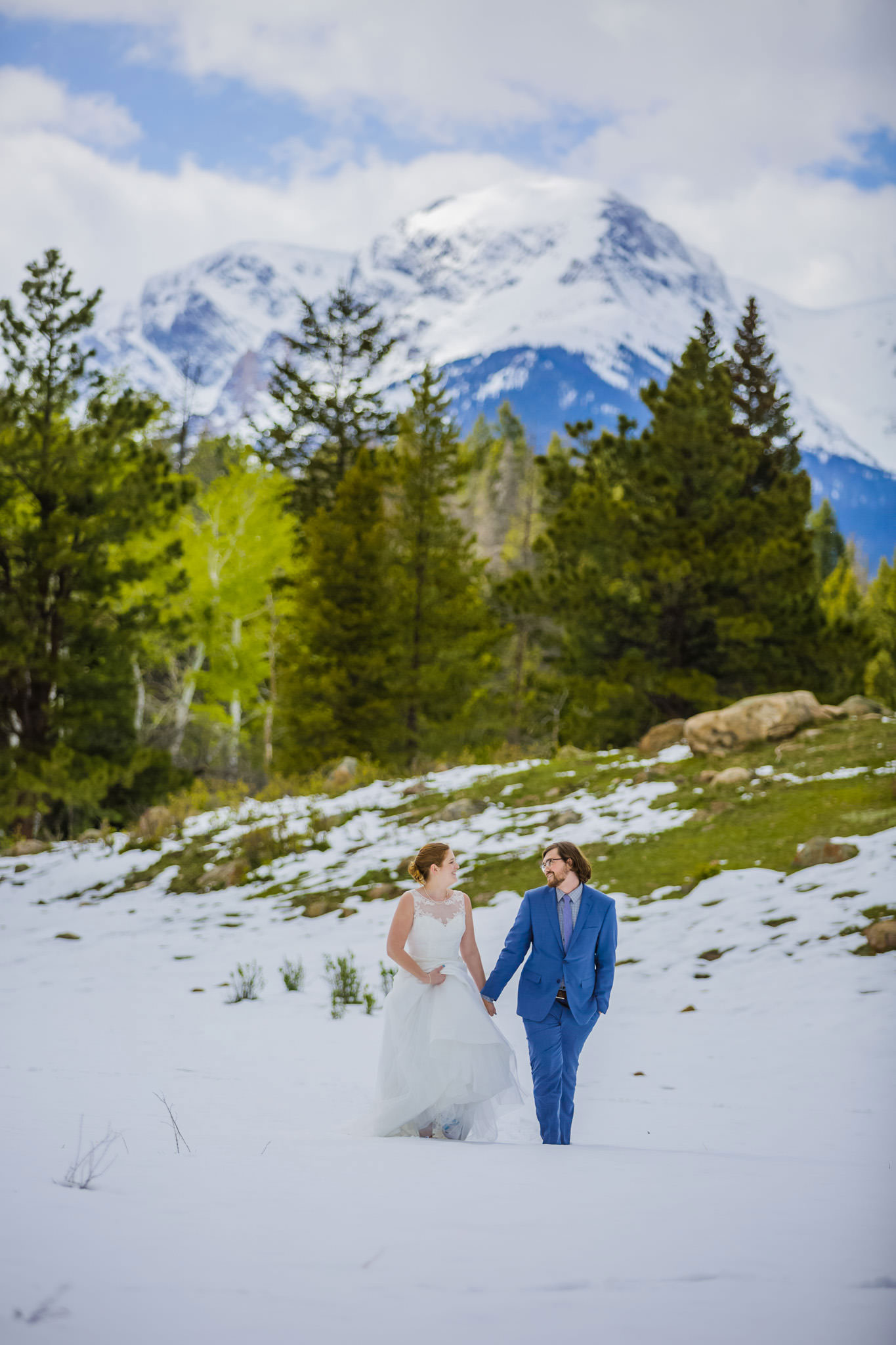 A Snowy Winter Elopement In Rocky Mountain National Park Luxe Mountain Weddings Mountain