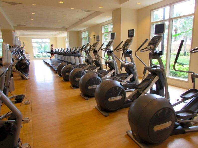 Bright, airy fitness center