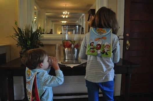 Sporting their new Omni Kids back packs
