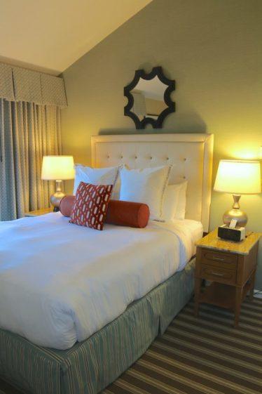 The queen bedroom of our villa at Ocean Edge Resort