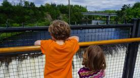 Views from its suspension bridge