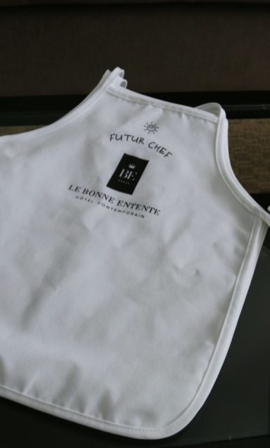 Welcome gifts of aprons for the kids