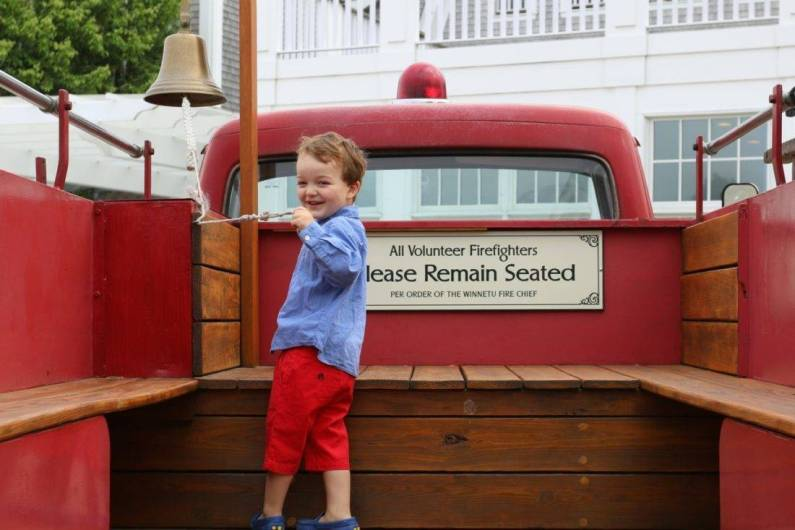 Kids love the vintage firetruck rides