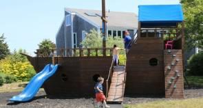 A pirate ship at the Winnetu kids' club