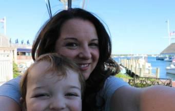 Post-ice cream selfie in Edgartown