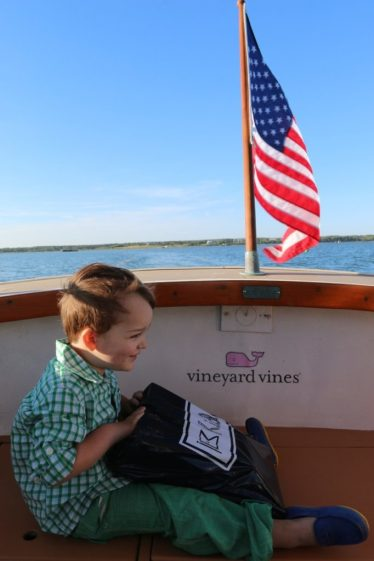 The water taxi to the Winnetu and product placement I should get paid for