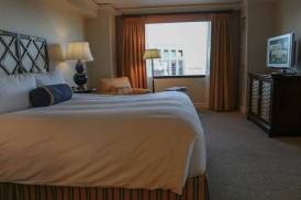 The suite bedroom at the Ritz Carlton Pentagon City