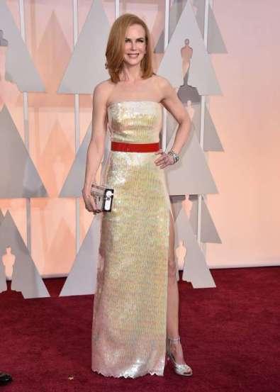 Thiết kế đầm Louis Vuitton - lựa chọn của Nicole Kidman bị đánh giá là thất bại