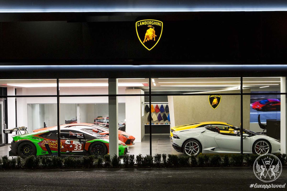 Launches A New Dealership Corporate Identity In Bristol - Lamborghini car dealership