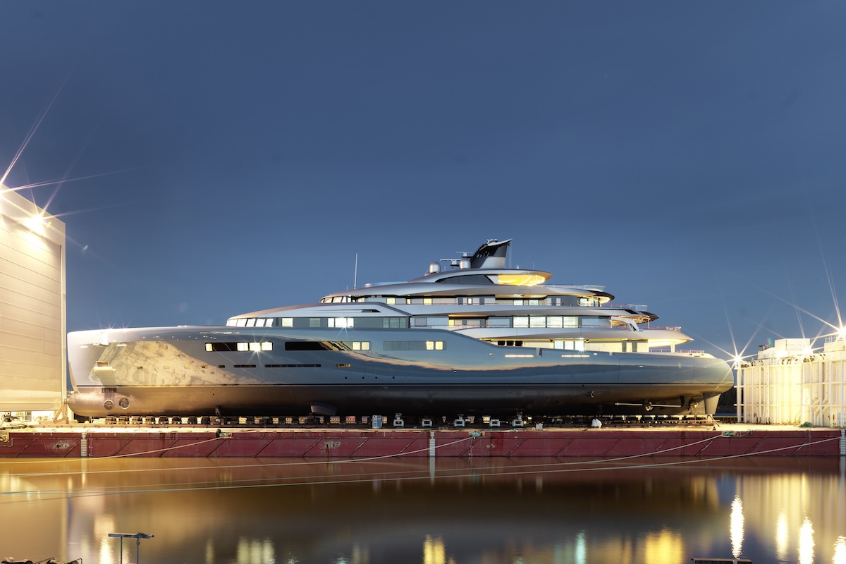 Abeking & Rasmussen Launches the 321-Foot Aviva Mega Yacht