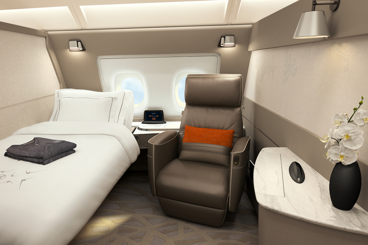 Singapore airlines unveils its suites aboard a380 for First class 8 interieur
