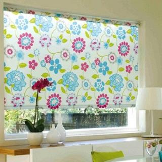 Рулонные шторы открытого типа ролшторы из детской ткани