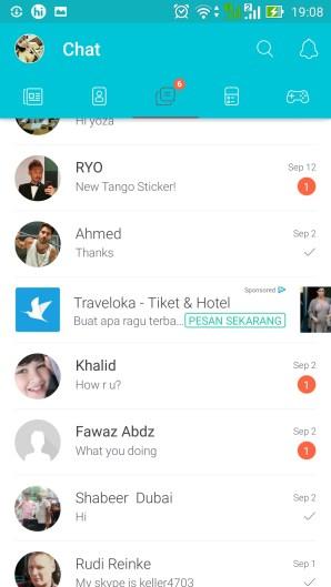 List chat Fiesta