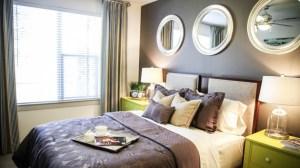 Bedroom at Berkshire Medical District Apartments in Uptown Dallas TX Lux Locators Dallas Apartment Locators