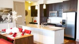 Kitchen Bar at Alara Uptown Apartments in Uptown Dallas TX Lux Locators Dallas Apartment Locators