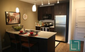 Kitchen Bar at Gallery at Turtle Creek Apartments in Uptown Dallas TX Lux Locators Dallas Apartment Locators