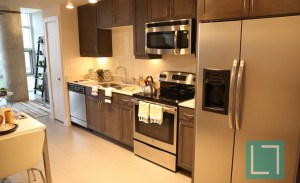 Kitchen at Gallery at Turtle Creek Apartments in Uptown Dallas TX Lux Locators Dallas Apartment Locators