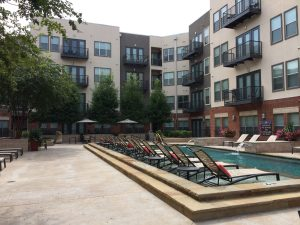 Pool View at 2929 Wycliff Apartments in Dallas TX Lux Locators Dallas Apartment Locators