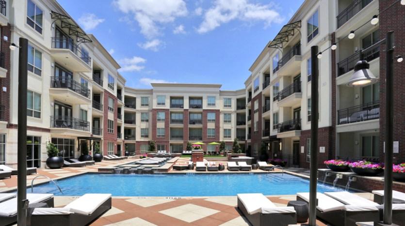 Pool View at Alara Uptown Apartments in Uptown Dallas TX Lux Locators Dallas Apartment Locators