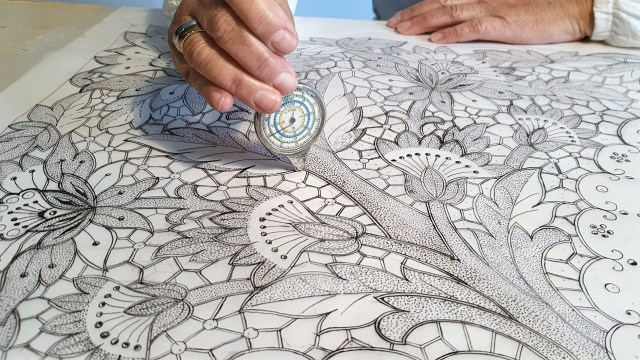 Madeira Embroidery designs - curvimeter and embroidery backing paper. embroidery backing.