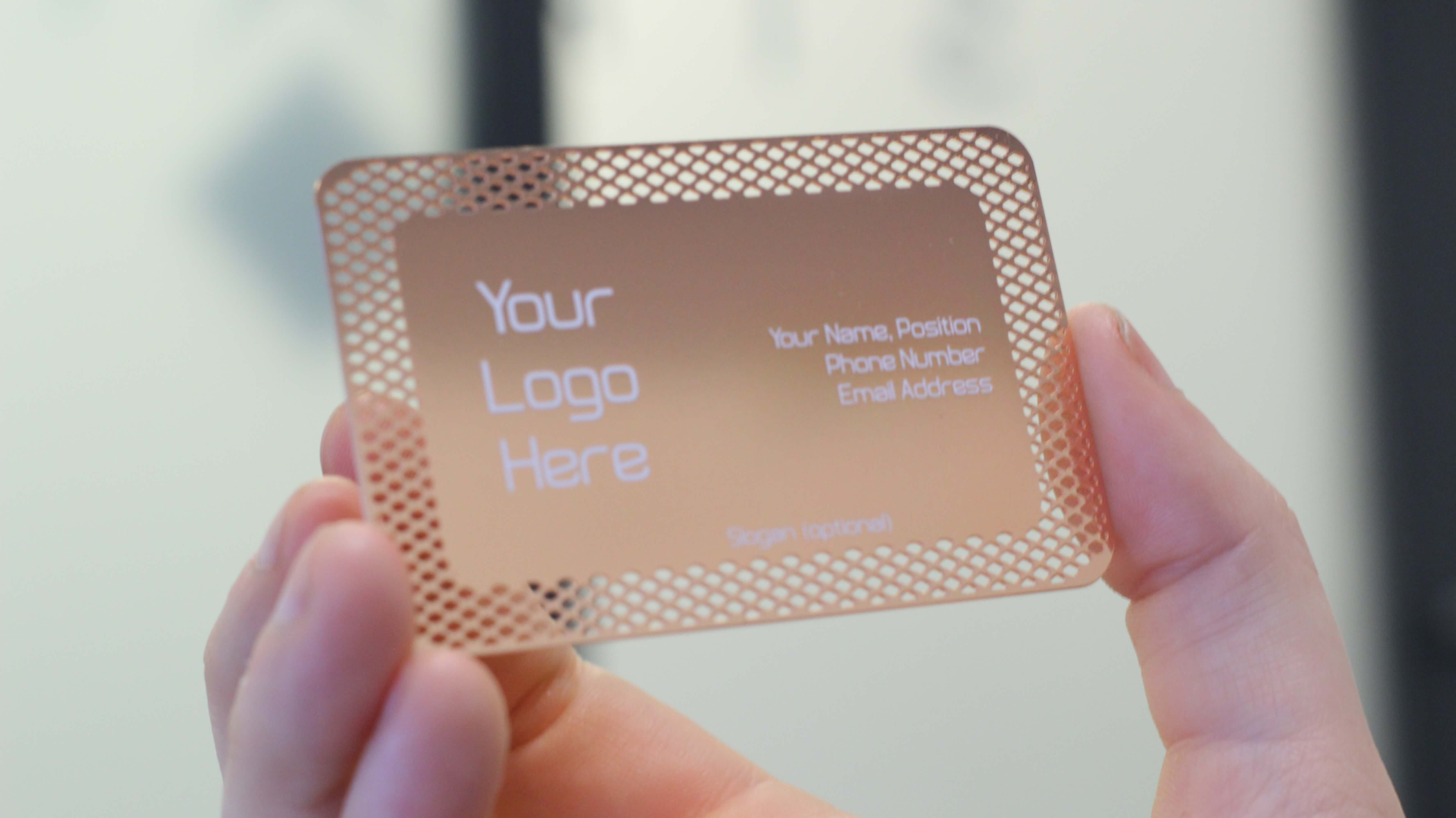 luxury metal business card  rose gold metal business cards