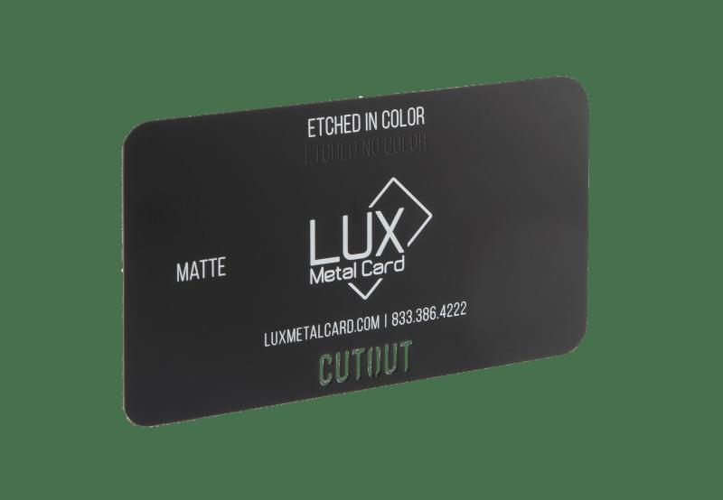 Matte Black Metal Business Card