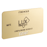 Gold Matte Metal Business Card