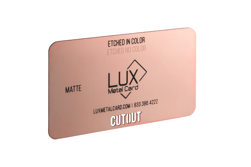 Rose Gold Matte Metal Business Card