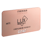 Rose Gold Matte Metal Business Card