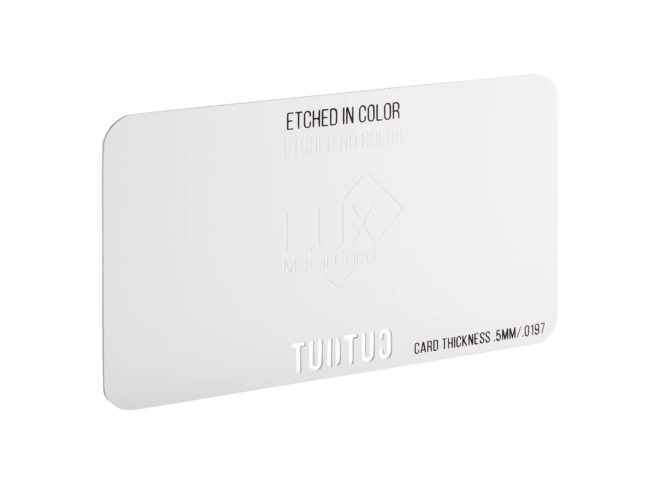 White Matte Metal Business Card